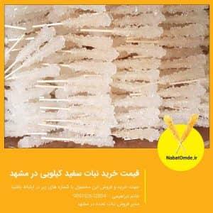 قیمت خرید نبات سفید کیلویی در مشهد